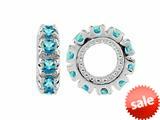 Storywheel® Swiss Blue Topaz Birthstone Bead / Charm style: W9SW
