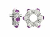 Storywheel Cab Amethyst Ring Bead / Charm
