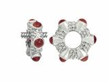 Storywheel Cab Garnet Ring Bead / Charm