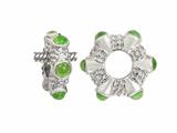 Storywheel Cab Peridot Ring Bead / Charm