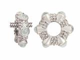 Storywheel Cab White Topaz Ring Bead / Charm