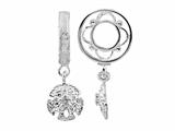 Storywheel Diamond Sand Dangle Bead / Charm
