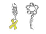 Storywheel Enamel Yellow Ribbon Dangle Bead / Charm