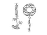 Storywheel® Created White Sapphire Palm Tree Bead / Charm style: W262