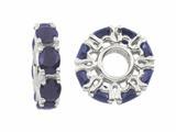 Storywheel® Sapphire Birthstone Bead / Charm style: W350S