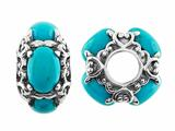 Storywheel® Turquoise Pandora Compatible Bead / Charm style: W379