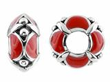 Storywheel Red Enamel Bead / Charm
