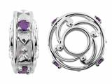 Storywheel Hearts And Amethyst (Valentines Day) Bead / Charm