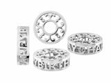 Storywheel® Pierced Happy Birthday Diamond Bead / Charm
