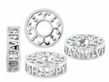 Storywheel Pierced Anniversary Diamond Bead / Charm