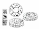 Storywheel® Pierced Anniversary Diamond Pandora Compatible Bead / Charm style: W502