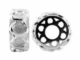 Storywheel Textured Finish Horseshoe Bead / Charm