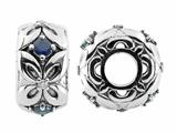 Storywheel® Flowers Set Sapphires Diamonds Bead / Charm