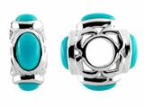 Storywheel® Turquoise Pandora Compatible Bead / Charm style: W544TQ
