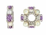 Storywheel® Amethyst And Pearl Bead / Charm