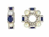 Storywheel® Sapphire And Pearl Bead / Charm