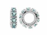 Storywheel Aquamarine Birthstone Bead / Charm