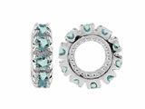 Storywheel® Aquamarine Birthstone Bead / Charm style: W9AQ