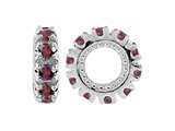 Storywheel Rhodolite Birthstone Bead / Charm