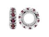 Storywheel® Rhodolite Birthstone Bead / Charm style: W9RH