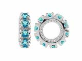 Storywheel Swiss Blue Topaz Birthstone Bead / Charm