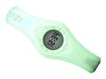Enerwatch by Pixelmoda Power Silicone Watch Cyan (Light Blue) With White Letters Medium Size