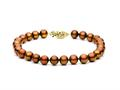 7 inches Multicolor Chocolate Fresh Water Cultured Pearl (dyed) Bracelet 8-8.5 mm each