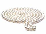 60 inch White Fresh Water Cultured Pearl Rope 7-8 mm each style: FW050248