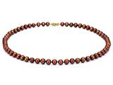 18 inch Chocolate Fresh Water Pearl Necklace 7-7.5mm each