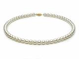 18 inch White Fresh Water Cultured Pearl Necklace 6-6.5 mm each style: FW050329