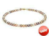 Multicolor Fresh Water Cultured Pearl Necklace 7-7.5mm each style: FW050044