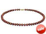 18 inch Chocolate Fresh Water Cultured Pearl (dyed) Necklace 7-7.5mm each style: FW050328