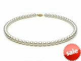 18 inch White Fresh Water Pearl Necklace 6-6.5 mm each