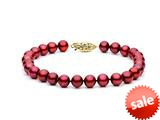 Cranberry Fresh Water Pearl Bracelet 6.5-7 mm each