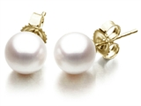 Akoya Cultured Pearl Earrings AA 8-8.5 mm with 14kt Gold Post