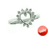 Heart Shape Ring with Round Diamonds