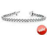 1.0 cttw Round Diamonds Tennis Bracelet (7 inches) - IGI Certified style: 75332