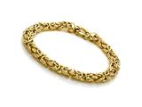 Yellow Gold Plated Silver 7.5 inches Byzantina Bracelet