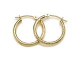 12 mm 14kt Yellow Gold Gold Hoop Earrings style: 630024