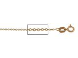 14 kt Pink Gold Cable Chain Necklace 1.0mm 18 inches