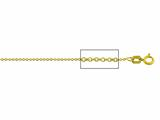 14 kt Yellow Gold Cable Chain Necklace 1.0mm 16 inches