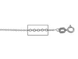 14 kt White Gold Cable Chain Necklace 1.0mm 16 inches