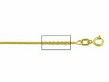 14 kt Yellow Gold Wheat Chain Necklace 0.8mm 16 inches