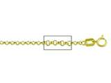 14 kt Yellow Gold Rolo Chain Necklace 1.60mm 16 inches style: 630107