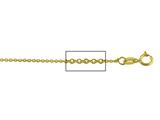 14 kt Yellow Gold Diamond Cut Cable Chain Necklace 1.1mm 16 inches