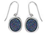 Multi Color Drusy Hanging Earrings