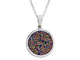 Multi Color Drusy Pendant