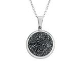Silver Drusy Pendant