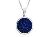 Blue Drusy Pendant