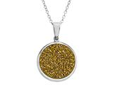 Yellow Drusy Pendant
